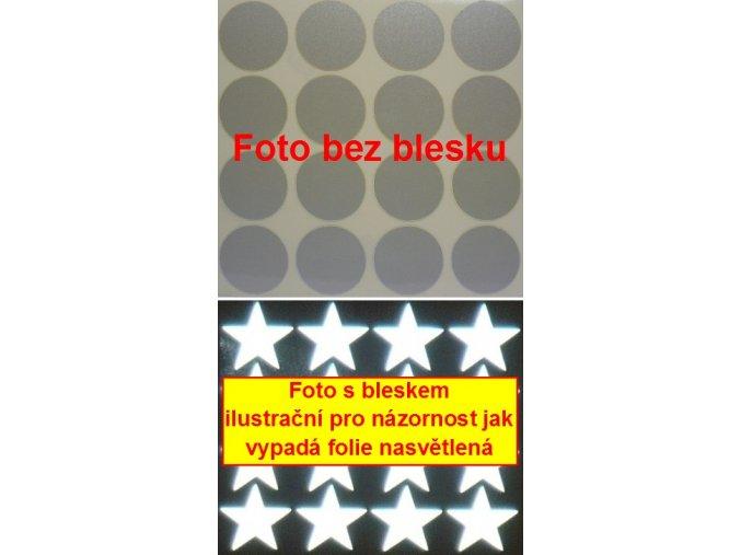 Reflexní samolepka: Kolečka 16 ks- Bílé