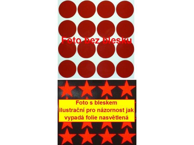 Reflexní samolepka: Kolečka 16 ks- Červené