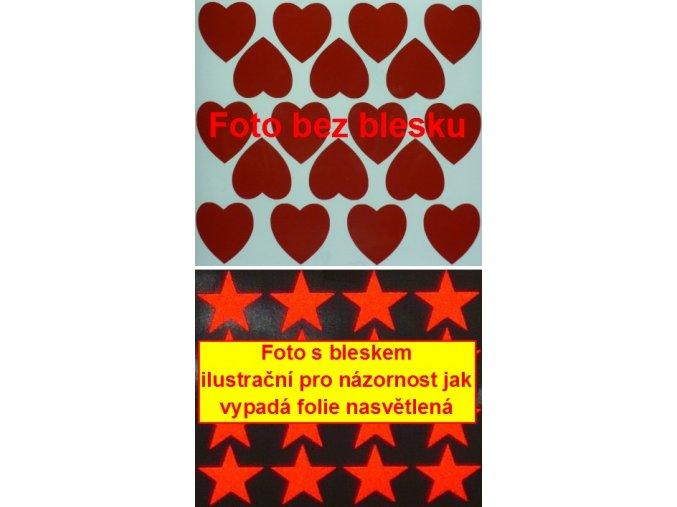 Reflexní samolepka: Srdce 18 ks- Červené