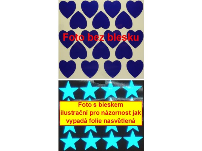 Reflexní samolepka: Srdce 18 ks- Modré