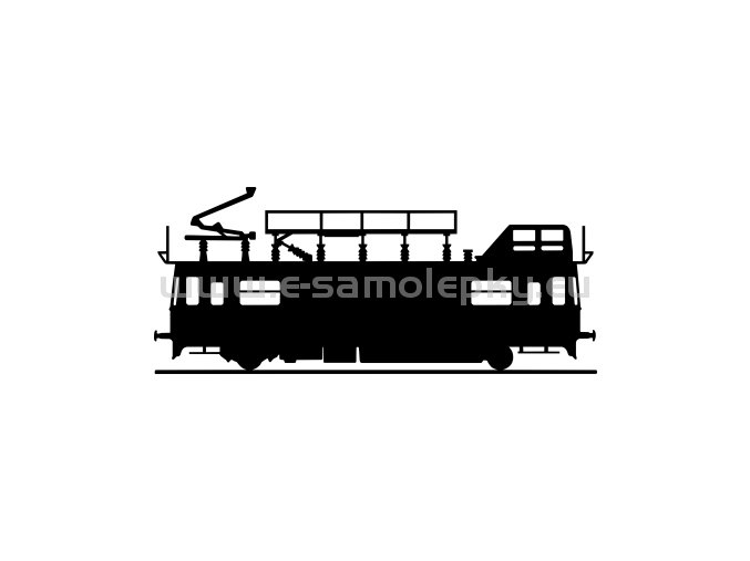 Samolepka - Lokomotiva MVTV2