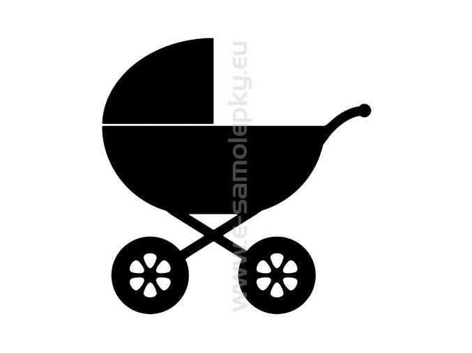 Samolepka - Dětský kočárek