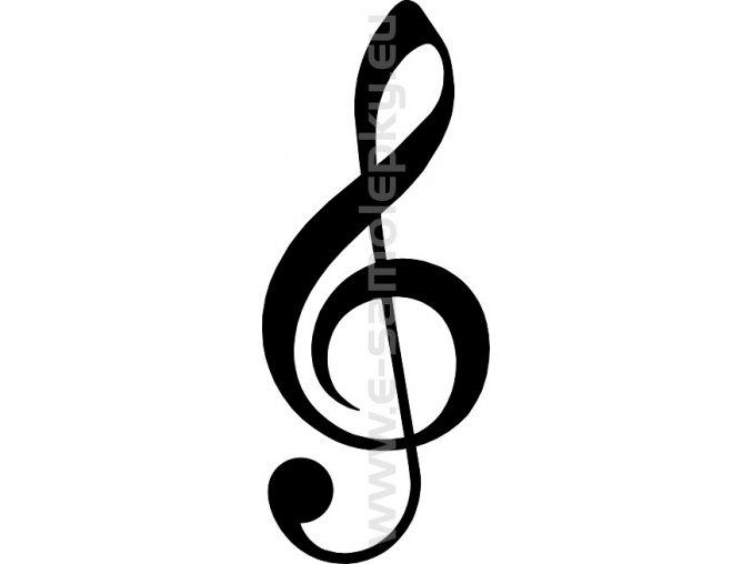 Samolepka - Houslový klíč