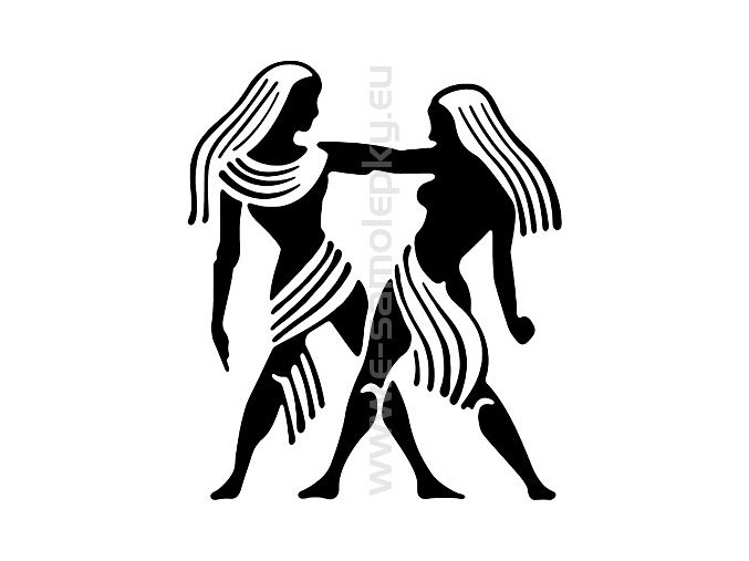 Samolepka - Zodiac- Blíženci