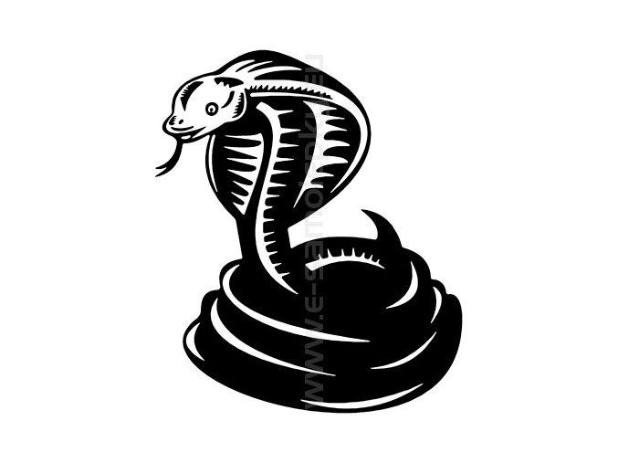 Samolepka - Kobra 02