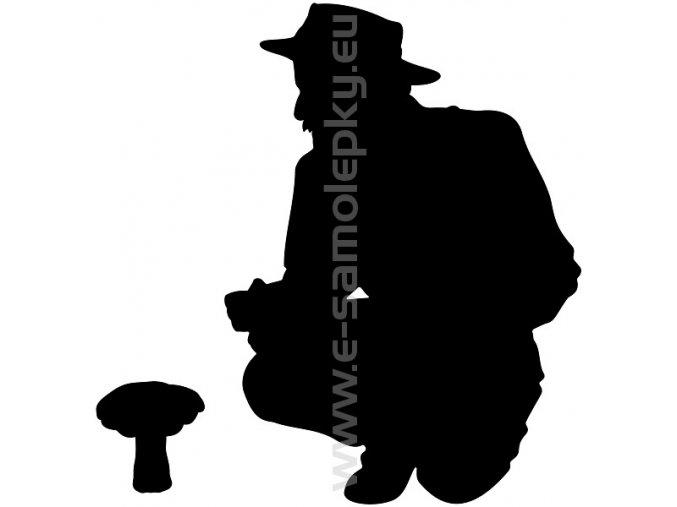 Samolepka - Houbař