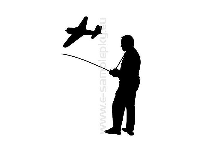 Samolepka - Modelář letadlo