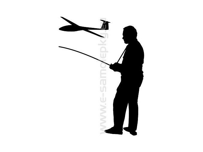 Samolepka - Modelář letadlo 02