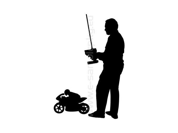 Samolepka - Modelář motocykl