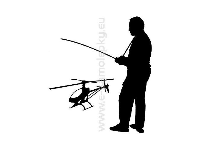 Samolepka - Modelář vrtulník