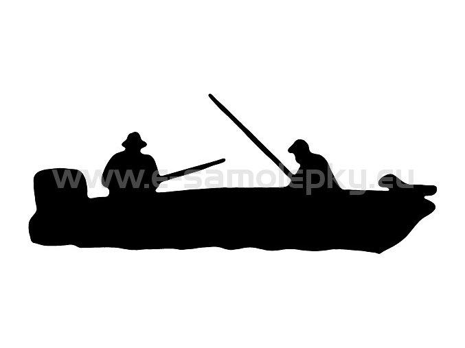Samolepka - Rybář 03