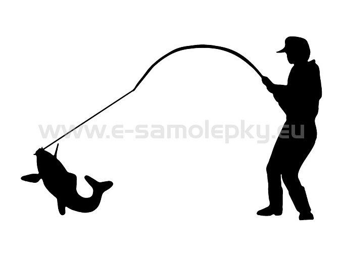 Samolepka - Rybář 04