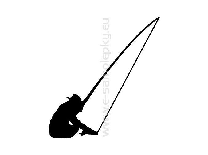 Samolepka - Rybář 05