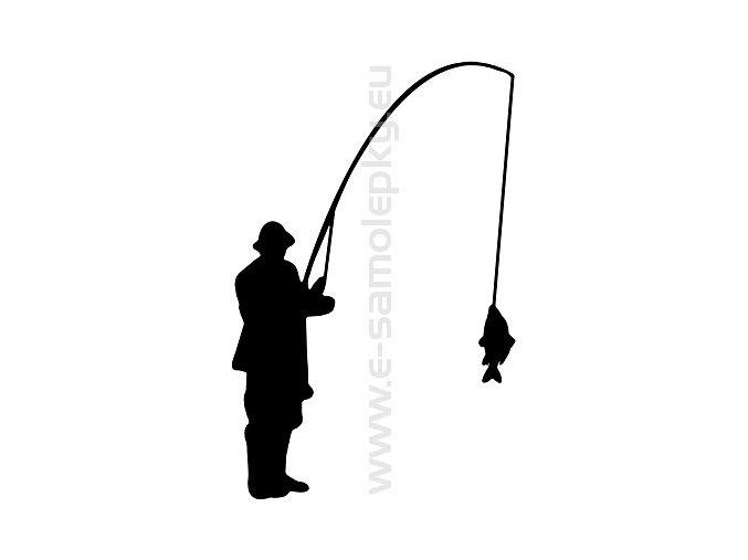 Samolepka - Rybář 06