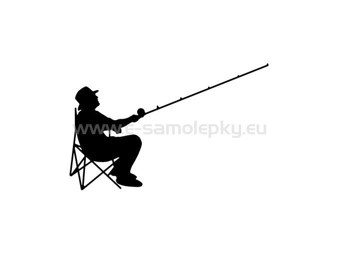 Samolepka - Rybář 07