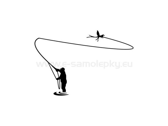 Samolepka - Rybář 08