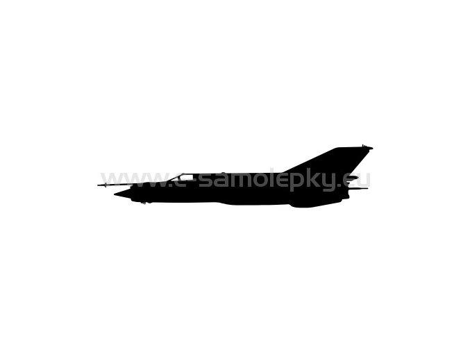 Samolepka - Letadlo Mig 21