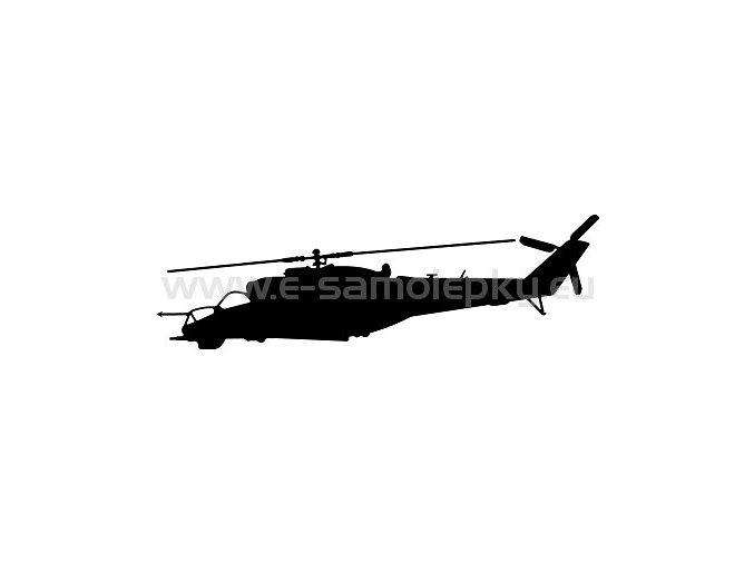 Samolepka - Vrtulník Mi 24