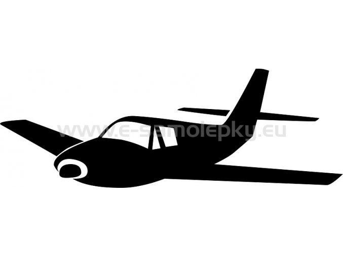 Samolepka - Letadlo 02