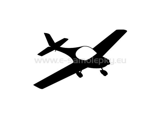Samolepka - Letadlo 09