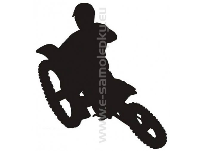 Samolepka - Motocyklista 04