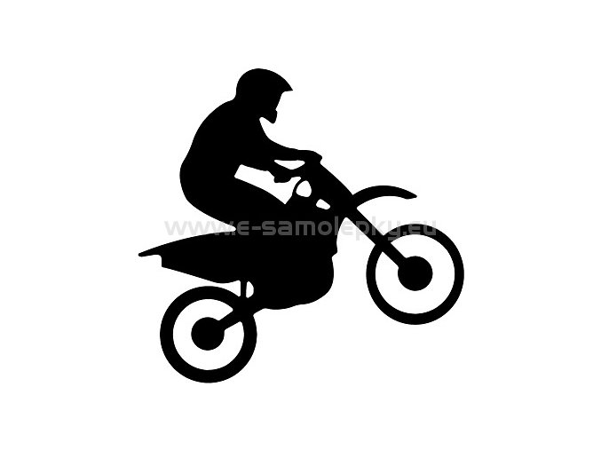 Samolepka - Motocyklista 08