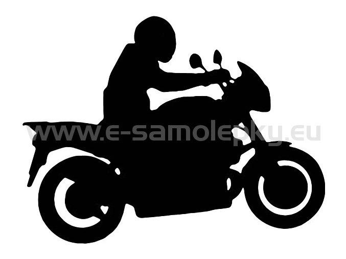 Samolepka - Motocyklista 10
