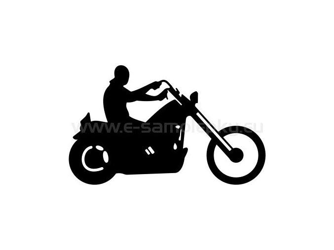 Samolepka - Motocyklista 17