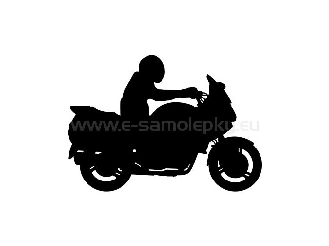 Samolepka - Motocyklista 21