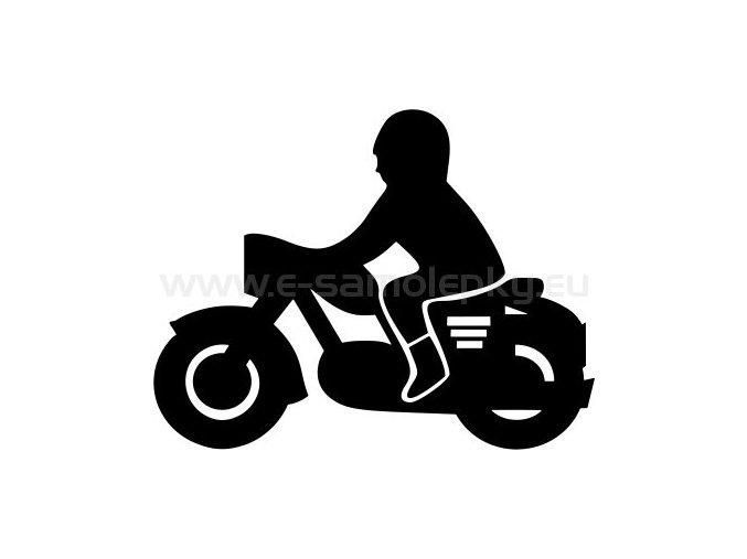 Samolepka - Motocyklista 19