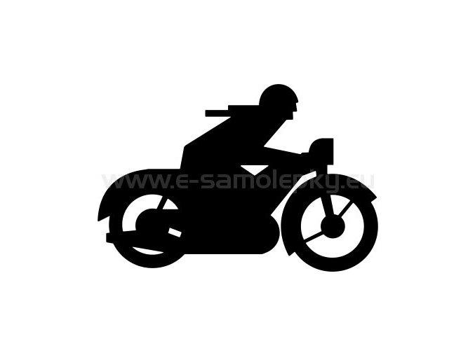 Samolepka - Motocyklista 26