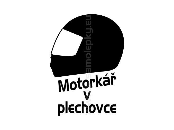 Samolepka - Motorkář v plechovce