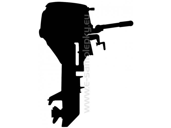 Samolepka - Lodní motor