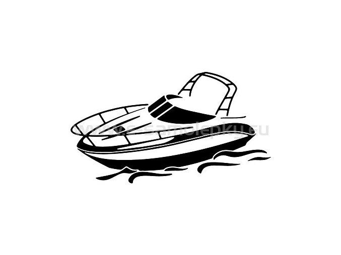 Samolepka - Motorový člun 02