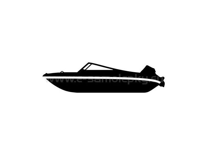 Samolepka - Motorový člun 03