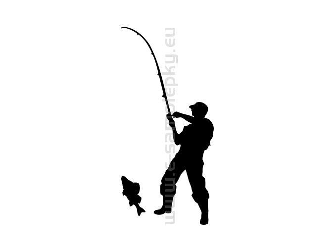 Samolepka - Rybář 12