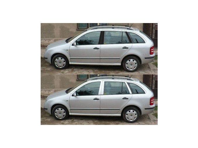 Polepy sloupků Škoda Fabia Combi I - Černá MATNÁ