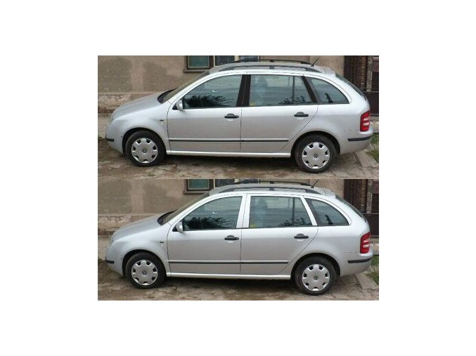 Polepy sloupků Škoda Fabia Combi I - Černá LESKLÁ