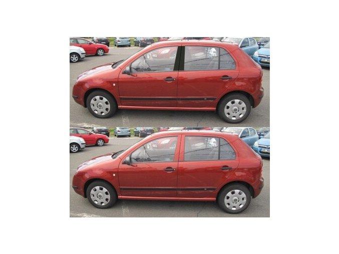 Polepy sloupků Škoda Fabia Sedan I - Černá LESKLÁ