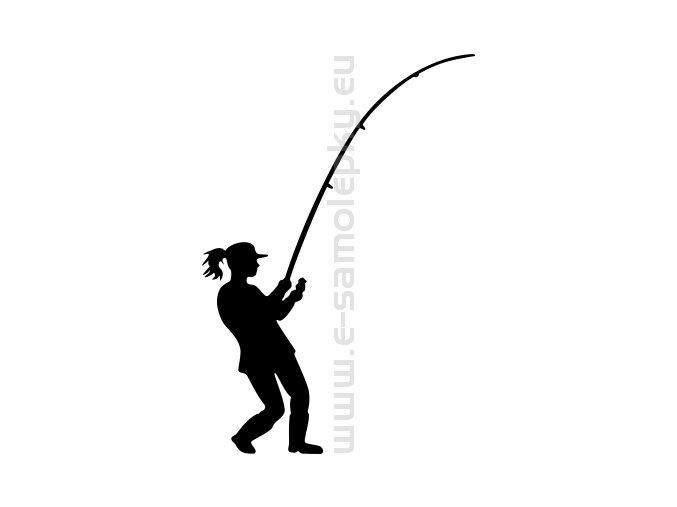Samolepka - Rybářka