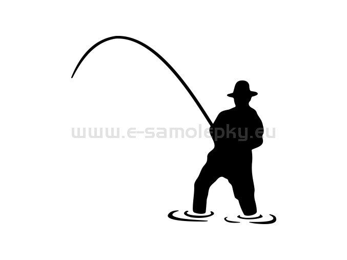 Samolepka - Rybář 13