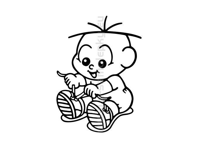 Samolepka - Dítě v autě 04