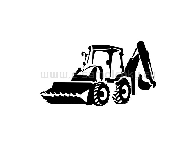 Samolepka - Traktorbagr