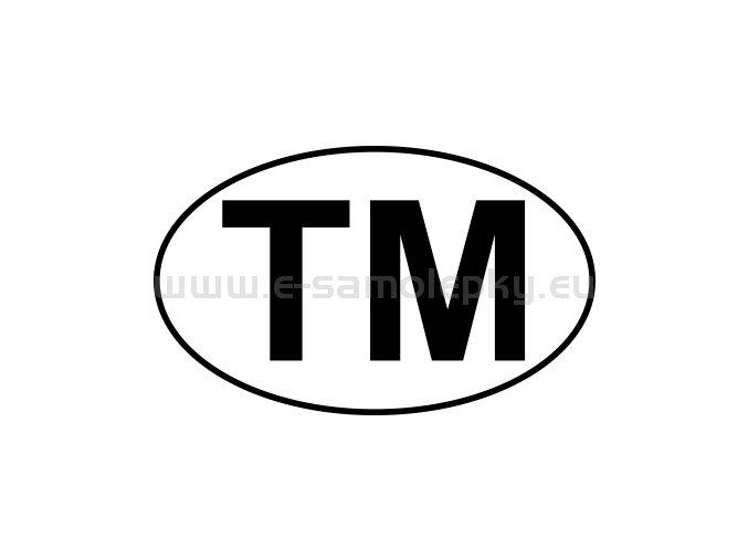 Samolepka - MPZ - Turkmenistán - TM - BEZ BÍLÉHO PODKLADU