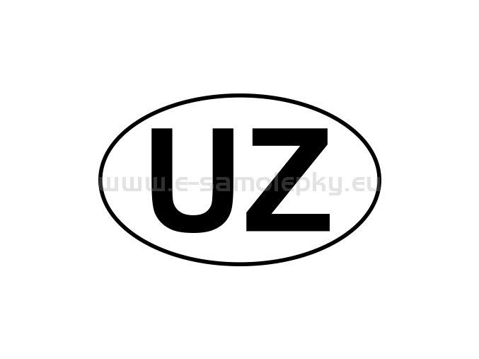 Samolepka - MPZ - Uzbekistán - UZ - BEZ BÍLÉHO PODKLADU