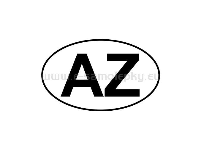 Samolepka - MPZ - Azerbajdžán - AZ - BEZ BÍLÉHO PODKLADU