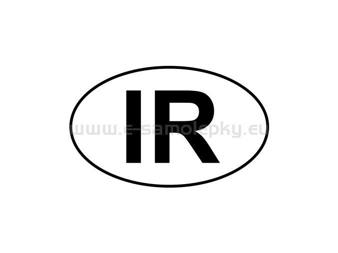 Samolepka - MPZ - Írán - IR - BEZ BÍLÉHO PODKLADU