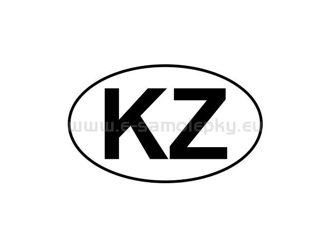 Samolepka - MPZ - Kazachstán - KZ - BEZ BÍLÉHO PODKLADU