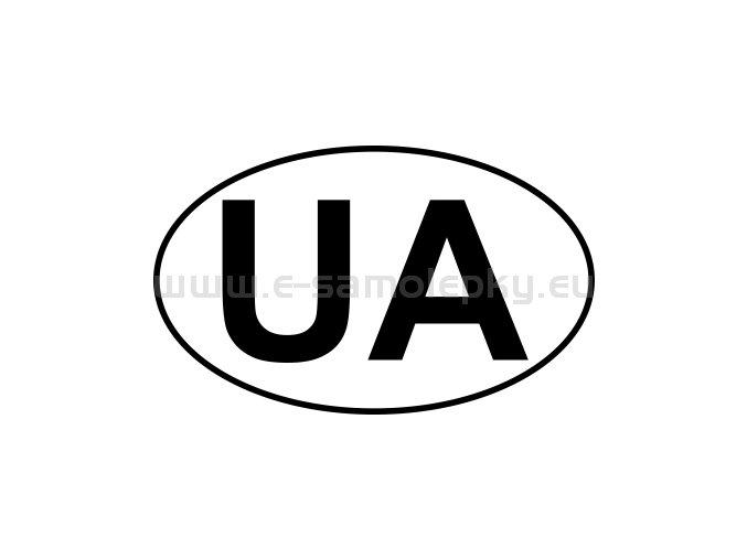 Samolepka - MPZ - Ukrajina - UA - BEZ BÍLÉHO PODKLADU