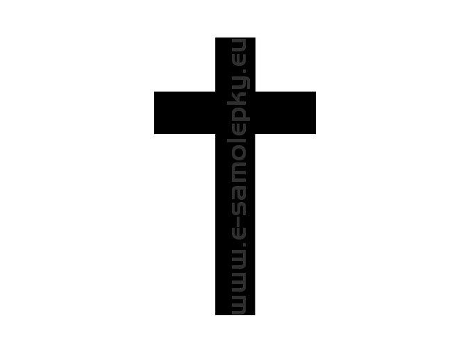 Samolepka - Kříž 02